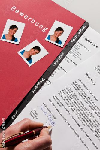 Lebenslauf Und Bewerbung Schreiben In Deutsch Stockfotos Und