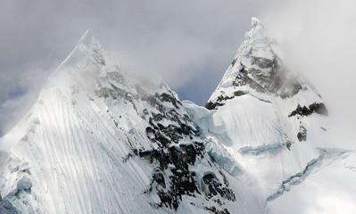 Jirishanca Peak in Cordiliera Huayhuash, Peru, South America
