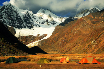 Camping in Cordiliera Huayhuash, Peru, South America