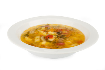 thick soup in a bowl