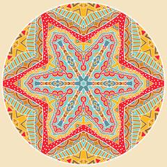 Round Tribal Pattern