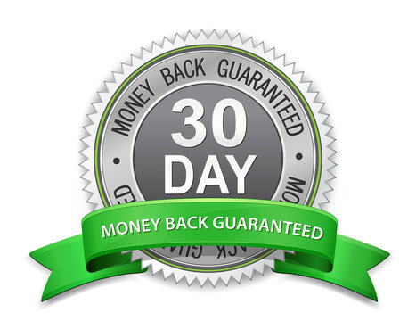30 day money back guaranteed label