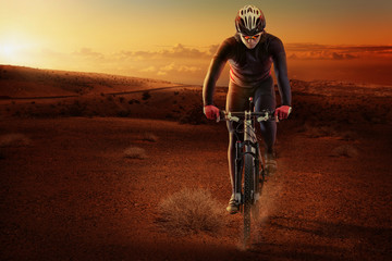 Wall Mural - Desert cyclist