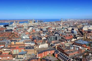 Foto op Canvas Liverpool aerial view, United Kingdom