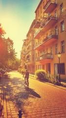 Fahrradfahrer in Berlin Kreuzberg