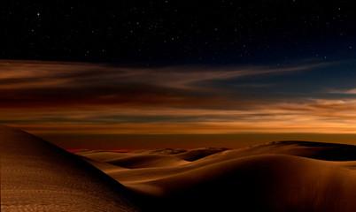 Night in desert Fotoväggar