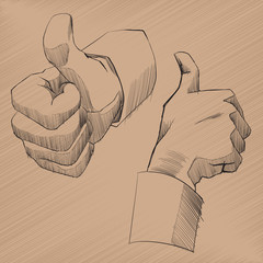 Vector Sketch Hands