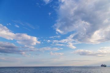 sea sky rainbow