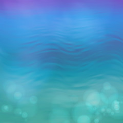 Wall Mural - Abstract Vector Blue Water Background