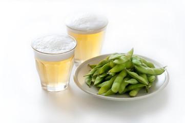 ビールと枝豆 ビール 枝豆 つまみ