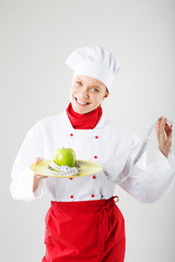 female cook. concept dietary