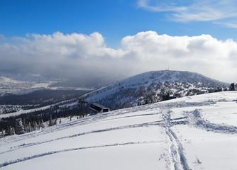 Skiing resort  Sheregesh.