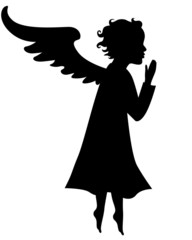 Silhouette of little angel