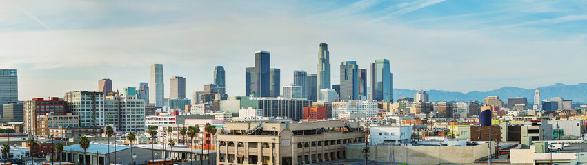 Los Angeles cityscape panorama Wall mural