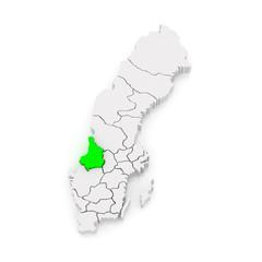 Map of Karlstad. Sweden.