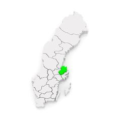Map of Uppsala. Sweden.
