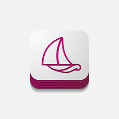 square button: sailboat