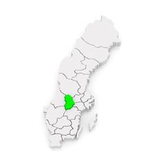 Map of Orebro. Sweden.