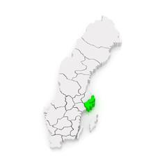 Map of Stockholm. Sweden.