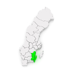 Map of Kalmar. Sweden.