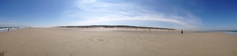 Strand auf Spiekeroog im Sommer, Panorama
