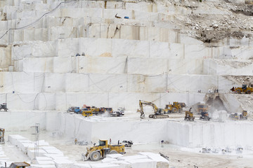 quarry of white marble Wall mural