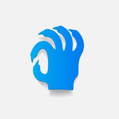 realistic design element: hand