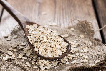 Wooden spoon with Oatmeal