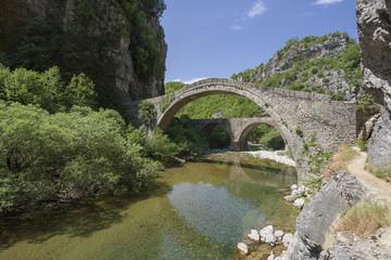 old stone bridge in Zagoria, Epirus, Western Greece