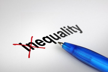 Changing the meaning of word. Inequality into Equality.