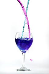 Colored vine glass