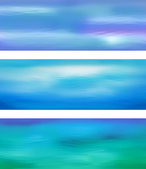 Wall Mural - Abstract Vector Blue Water Banner