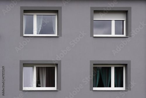 Modernisierte Fassade In Grau Stock Photo And Royalty Free Images