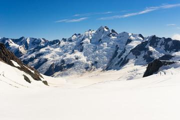 Snowy mountain peak