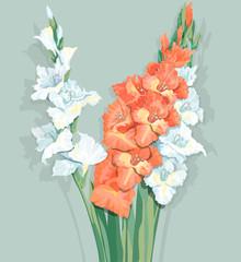A bouquet of gladiolus.