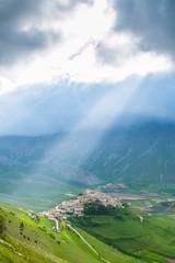 Castelluccio di Norcia, Monti Sibillini, italian landscape
