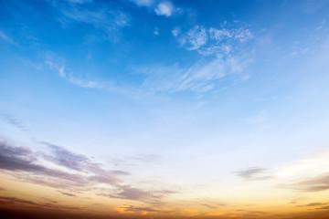 sky in sunrise
