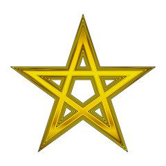Gold pentagram icon