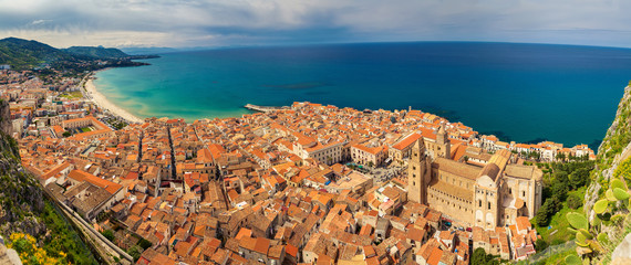 panoramic view of Cefalu