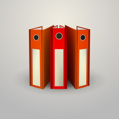 Illustration of red folders