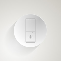 Flat icon for fridge