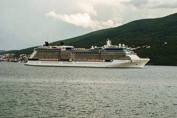 Cruiser in the Bay of Kotor