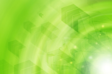 Abstract green technology with arrow background.