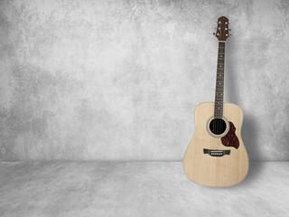 vintage guitar on old background