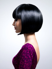 Beautiful woman with short hairstyle.