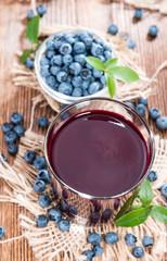 Fresh made Blueberry Juice