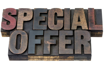 special offer in wood type