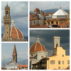 roofs  of old  Florence, Italy, Europe