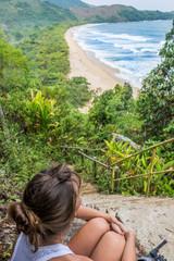 Beautiful Wild Beach at Paraty Brazil. South America.
