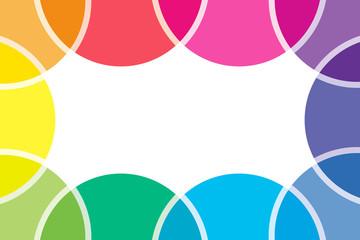 背景素材壁紙 (虹の輪, 虹, 虹色, レインボー, 七色, 円, 円形, 丸, )